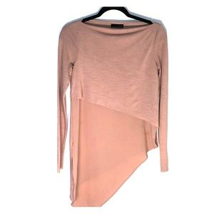 Long Sleeve Muted Pink Blouse